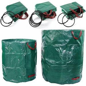 60L-500L Large Capacity Garden Bag Reusable Leaf Sack Trash Can Foldable Garden Garbage Waste Collection Container Storage Bag
