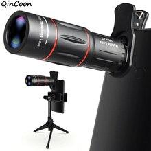 18X Zoom téléobjectif avec trépied 4K HD monoculaire télescope téléphone caméra lentille pour iPhone Samsung LG Android Smartphone Mobile