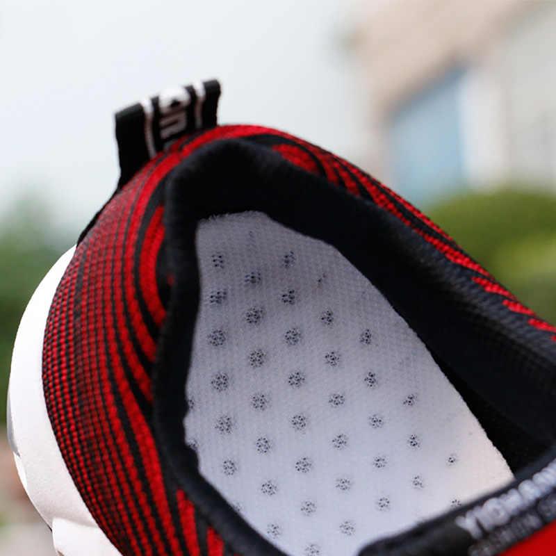 Zapatillas vulcanizadas para hombre, moda de verano 2020, zapatillas de deporte transpirables de malla de aire para hombre de talla grande 38-44