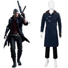 DMC 5 Nero Cosplay Costume Nero Jacket Trench Coat costumi di carnevale di Halloween