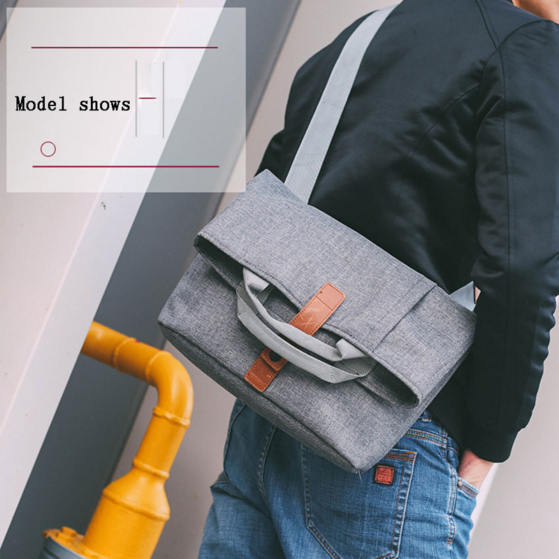 Men Bag Casual Grey Lightweight Oxford 13.1inch Laptop 9.7 iPad Tablet Crossbody Bag Male Small Messenger Bag Fashion Bagpack title=