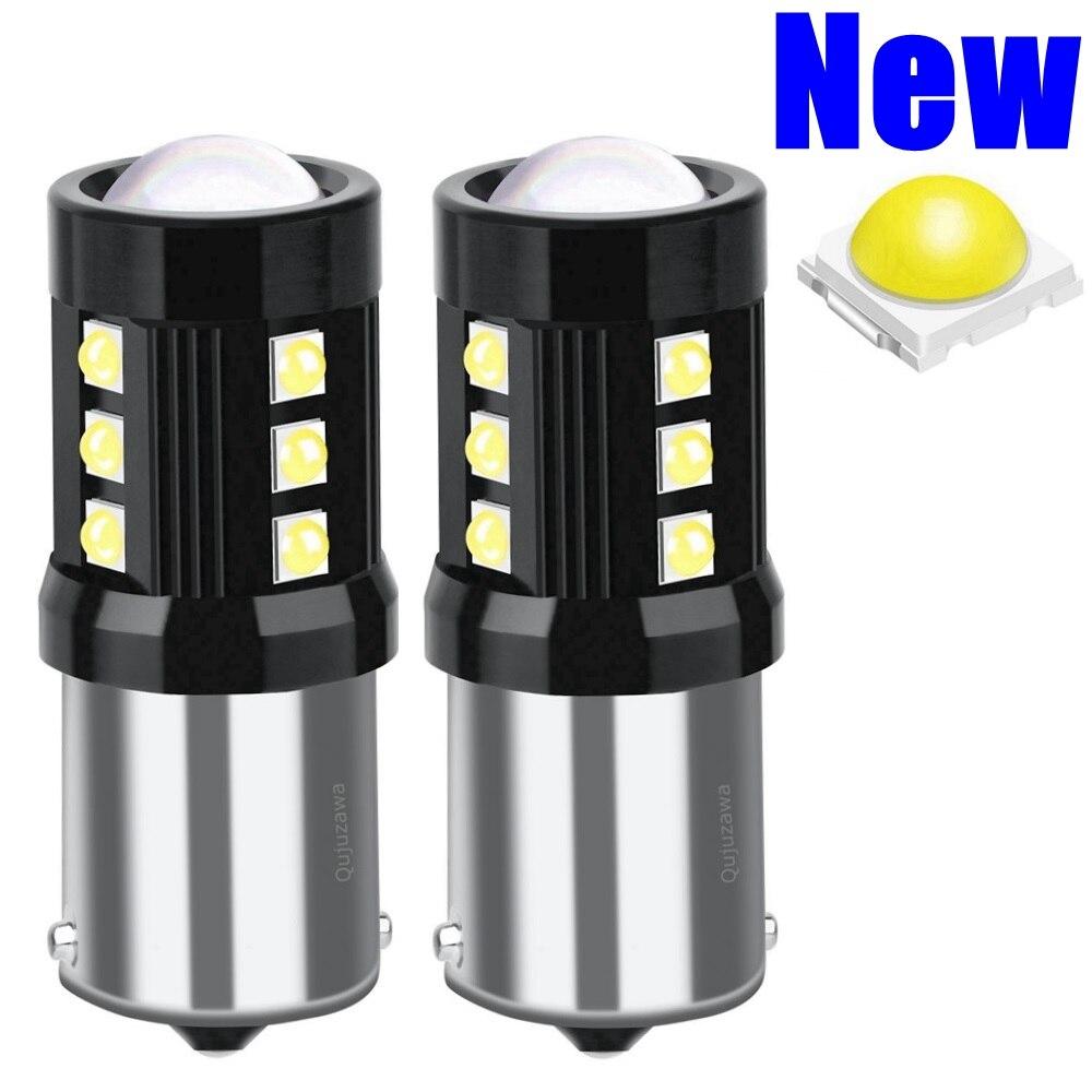 ¡Nuevo! 2 uds. 1156 BA15s 7506 P21W R10W R5W LED luz de freno de señal de giro de coche luz trasera bombilla de marcha atrás automática Luz de circulación diurna