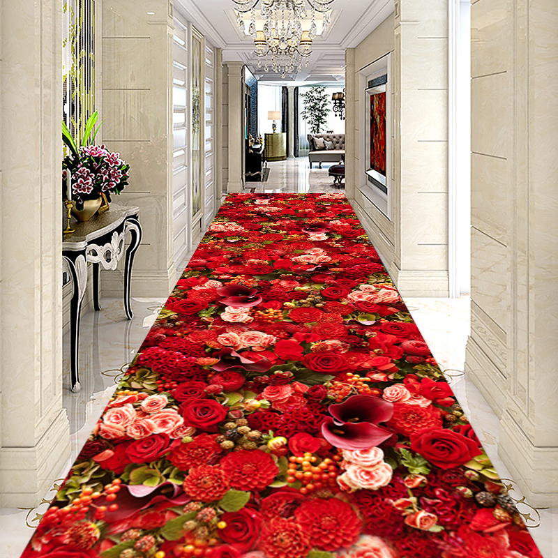 3D Long Corridor Carpet Hotel Aisle Rug Home/Office Stair Carpet Sofa Coffee Table Floor Mat Decorative Entracne/Hallway Doormat