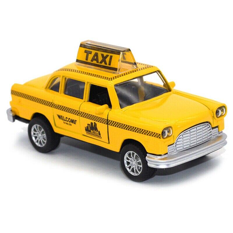 Модель автомобиля HOMMAT 1:36 Нью-Йорк желтая такси кабина литая Игрушечная модель автомобиля из сплава Коллекционные Подарочные автомобили иг...
