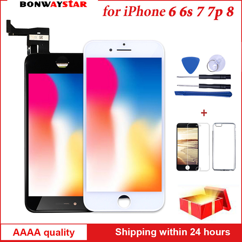 7 3D Força Tela Sensível Ao Toque para iPhone 6s Plus 8 6 Módulo Display LCD Assembléia Digitador para o iphone Tablet no Dead Pixel navio Livre