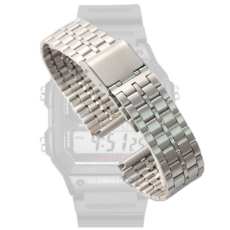 Stainless Steel Watch Strap Watchbands Replacement For Casio AE-1200WH-1AV,AE-1300WH-1AV,W-216H