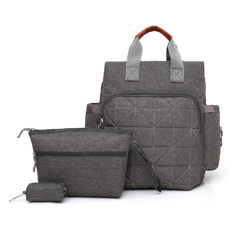 3psc/set Diaper Bag Fashion Mommy Diaper Backpack Baby Bag Backpack For Mom Diaper Bag For Stroller