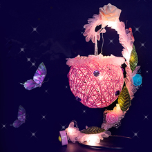 Дети ручной работы Красочный ночник творческий DIY кованого железа, Плетеный шар ночной Светильник развивающая игрушка для детей подарок