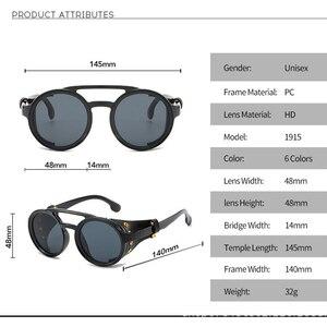 Image 3 - KEITHION di Modo Steampunk Occhiali Da Sole Rotondi Occhiali Da Sole Del Progettista di Marca Degli Uomini Delle Donne Dellannata Occhiali Da Sole UV400 Shades Occhiali