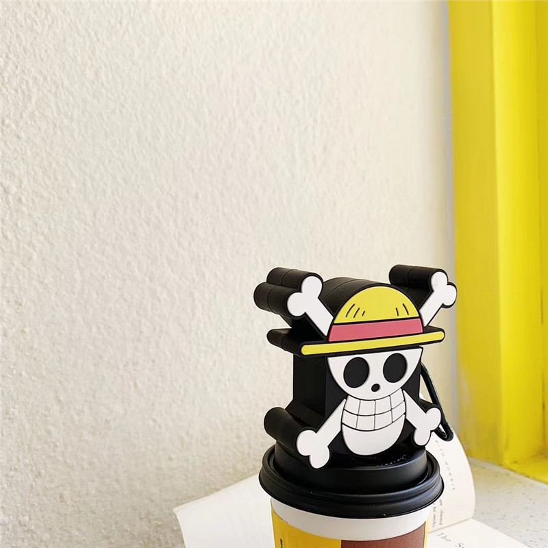 Image 5 - For AirPods Apple Case 3D Cartoon One Piece Headphone Cases For Airpods 1 2 Silicone Case Accessories Protector Cover Keychain-in Earphone Accessories from Consumer Electronics