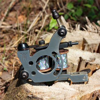 Thomas Tattoo Machine Gun  8 Wrap Coils for Liner Stainless Steel Frame