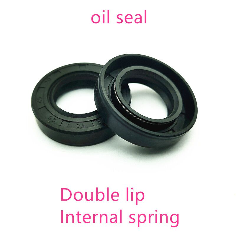 NBR framework oil seal TC25 <font><b>27</b></font> 28 <font><b>29</b></font> 30*41*<font><b>5</b></font> 7 10mm double lip with clamp spring image