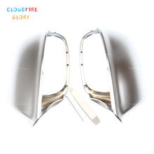 цена на CloudFireGlory Pair Rearview Side Door Mirror Cover Cap For Audi Q5 2009 2010 2011 2012 2013 2014 2015 For Audi Q7 2009-2017
