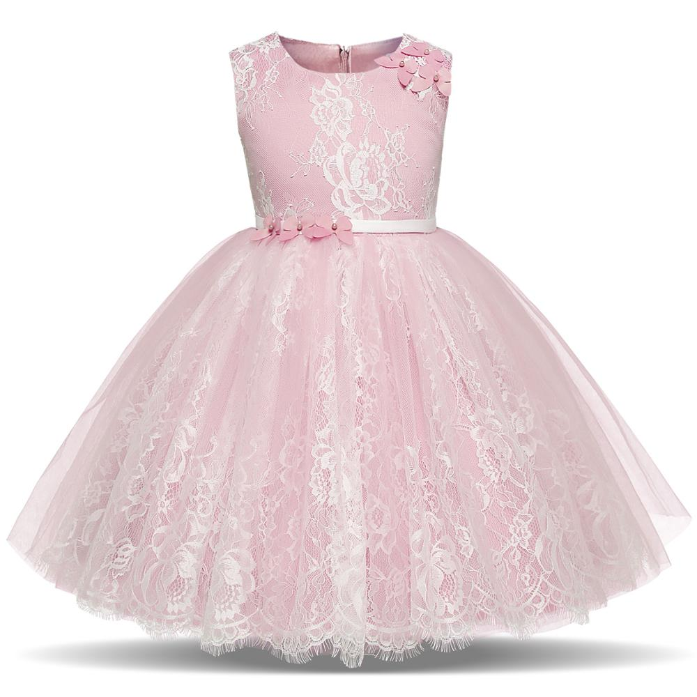 Lace Flower Girl Dress Princess Party Formal Wedding Bridesmaid Long Kid Dresses