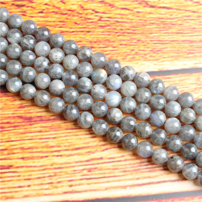 Glitter Stone Natural Stone Bead Round Loose Spaced Beads 15 Inch Strand 4/6/8 / 10mm For Jewelry Making DIY Bracelet Necklace