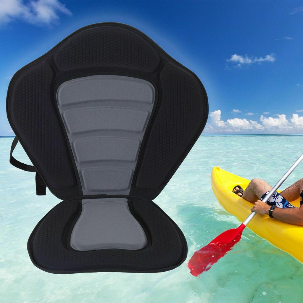 Uniwersalny kajak kajak Seat wyściełana poduszka regulowane oparcie krzesło pasy z kieszenią łódź wiosłowa wymiana poduszki