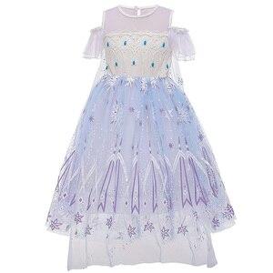 Image 4 - Nieuwe Meisjes Voor Cartoon Movie Kostuum Princess Snow Queen Dressing Up Met Cape Voor Meisje Carnaval Fancy Party Dress Kids jurken