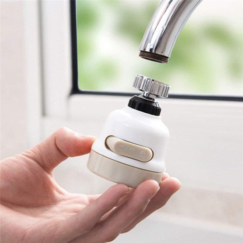 360 Degree Water Bubbler Swivel Head Water Saving Nozzle Tap Adapter Sprinkler Kitchen Water Sprinkler Water Saving Device 5