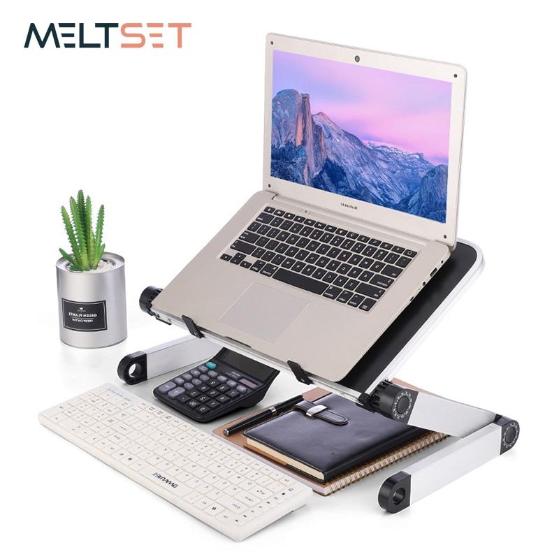 Portable Laptop Table Adjustable Notebook Stand Desk for Office Bed Folding Desk Adjust 360 Degree Laptop Computer Stand HolderLaptop Desks   -