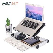 Support pour ordinateur Portable et Table réglable à ordinateur Portable degrés, pour bureau, lit, pliable, support ajustable à 360 degrés