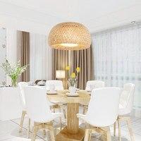 Chinese Handmade Pendant light Bamboo nest antique E27 lamps lanterns for teahouse living room hotel restaurant aisle Lamp