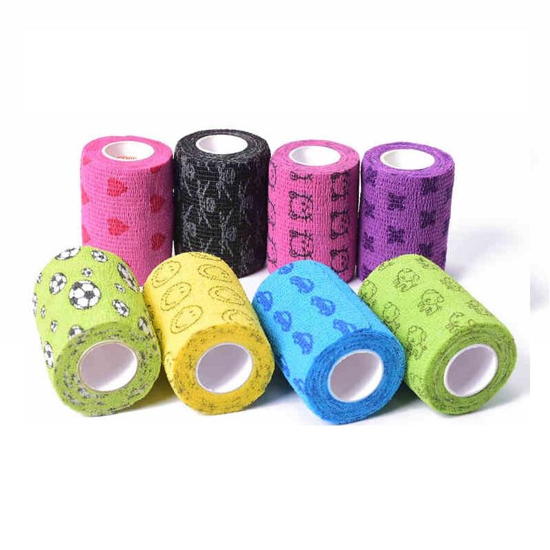 1 Rolls Elastic Self Adhesive Bandage Medical First Aid Kit Waterproof Muscles Care Non-woven Fabrics Wrist Bandage 7.5*450cm