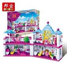 Banbao 6111 382 piezas salón de belleza bloques juguetes para niñas bloques de construcción de plástico juegos educativos juguetes ladrillos