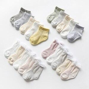 5 пар носков для малышей летние тонкие сетчатые носки для новорожденных девочек, вязаные хлопковые Повседневные детские носки для мальчико...