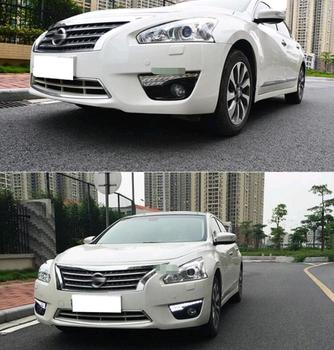 12V LED DRL Daytime running lights with fog lamp hole for Nissan TEANA ALTIMA 2013 2014 Turn Signal and dimming style Relay