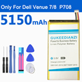Аккумулятор GUKEEDIANZI P708 5150 мАч для Dell Venue 7 3740 Venue 8 3840 series P708 Tablet PC Tab запасная батарея