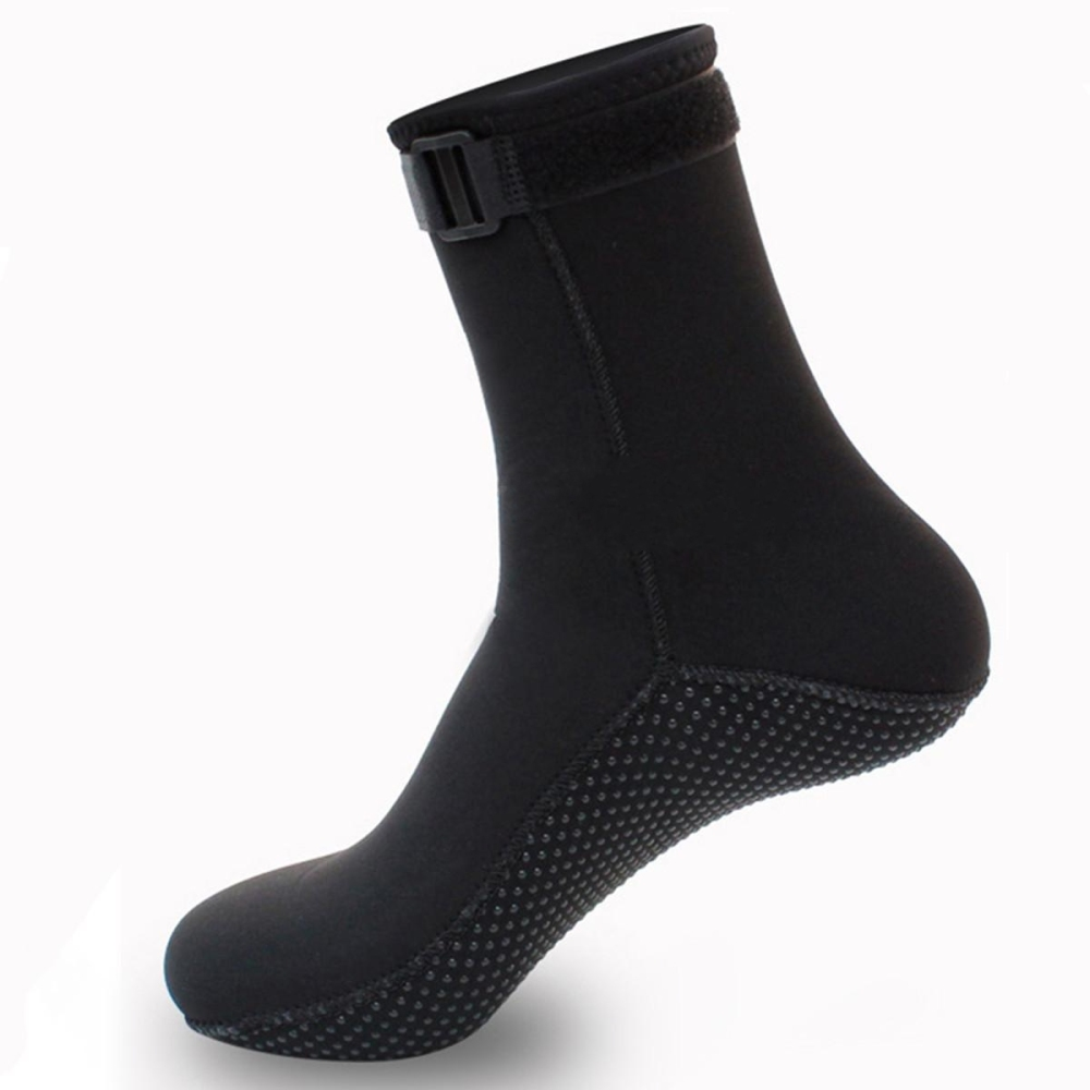 1 Pair 3mm Neoprene Socks Anti-Slip Adjustable Warm Water Boots Adult Unisex For Winter Swimming Scuba Diving Sport Accessory