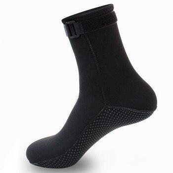 1 Pair 3mm Neoprene Socks Anti-Slip Adjustable Warm Water Boots Adult Unisex For Winter Swimming Scuba Diving Sport Accessory