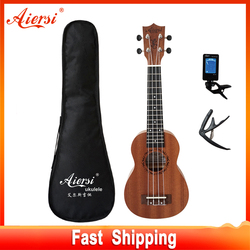 Aiersi full pack 21 inch ukelele mahogany Soprano gecko ukulele guitar musical gifts instrument 4 string Hawaiian mini guitarra