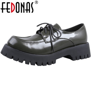 FEDONAS New Women High Heels Pumps Cross Tied Round Toe Shoes Spring Summer Genuine Leather Night Club Platforms Shoes Woman