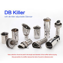 For 51mm 60mm Motorcycle Exhaust Muffler High quality DB Killer Moveable DB Killer Removable Silencer Noise Sound Eliminator(China)