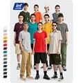 INFLATION Paket Verkauf Plus größe mode männer t-shirts 100% Baumwolle Oansatz männer Plain T hemd 25 Solide Farben T-shirt 035S16