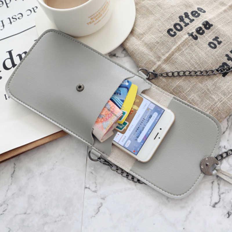 Touch Screen Mobiele Telefoon Purse Smartphone Portemonnee Lederen Schouderband Handtas Vrouwen Tas Universele Voor Hieronder 6.5 Inch Telefoon