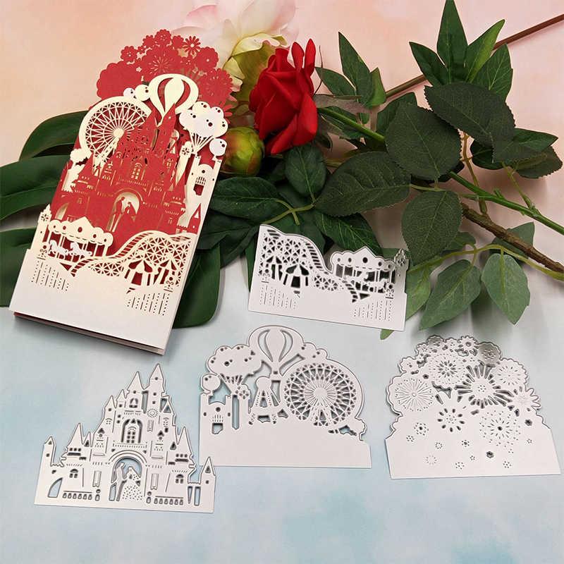 قطع معدنية يموت ل بطاقات دعوة الزفاف الحرفية يموت قطع سكرابوكينغ ختم Stencil يموت مجموعات DIY بها بنفسك زينة عيد الميلاد