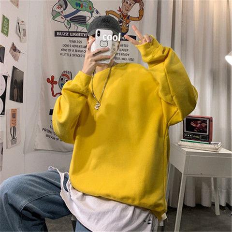 loose Korean style plus size sweatshirt winter clothes streetwear women 2020 new fashion plus velvet oversize harajuku hoodie 16