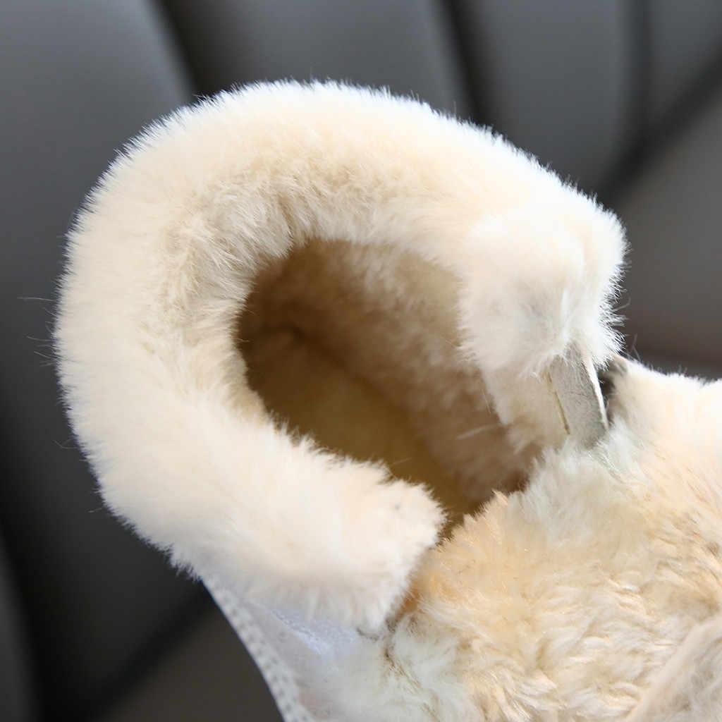 Năm 2019 Tập Đi Dép Trẻ Em Mùa Đông Sofa Bé Trai Bé Gái Thời Trang Mùa Đông Ấm Áp Bé Gái Cao Đến Mắt Cá Chân Thể Thao Ngắn Bootie Giày Thường