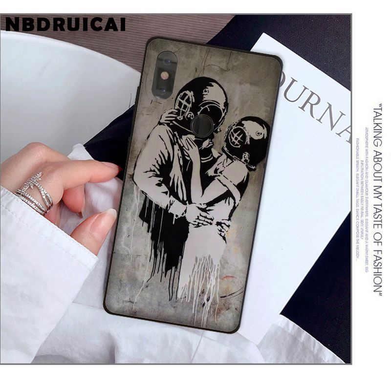 NBDRUICAI Street Art Banksy Graffiti Coque Hohe Qualität Telefon Fall für Xiaomi 8 9 se 5X Redmi 6pro 6A 4X7 5plus note 5 7 6pro