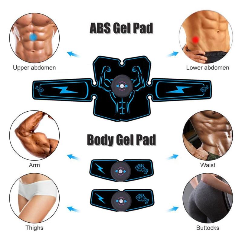 Estimulador muscular abdominal trainer ems massageador emagrecimento