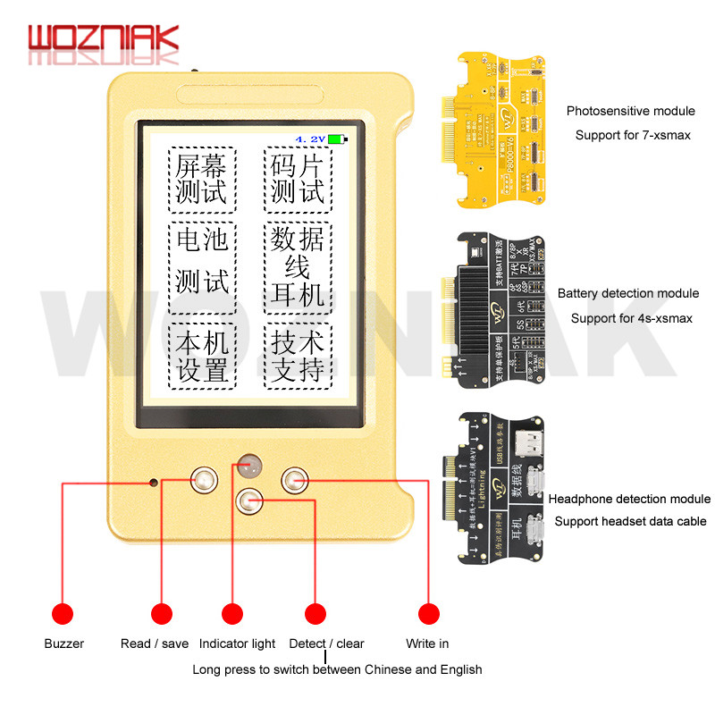 WL V6 液晶画面オリジナル色プログラマ iphone 11 XR XSMAX XS 8 1080P 8 7P イヤ/ タッチ/バッテリー修理良いとして Qianli iCopy