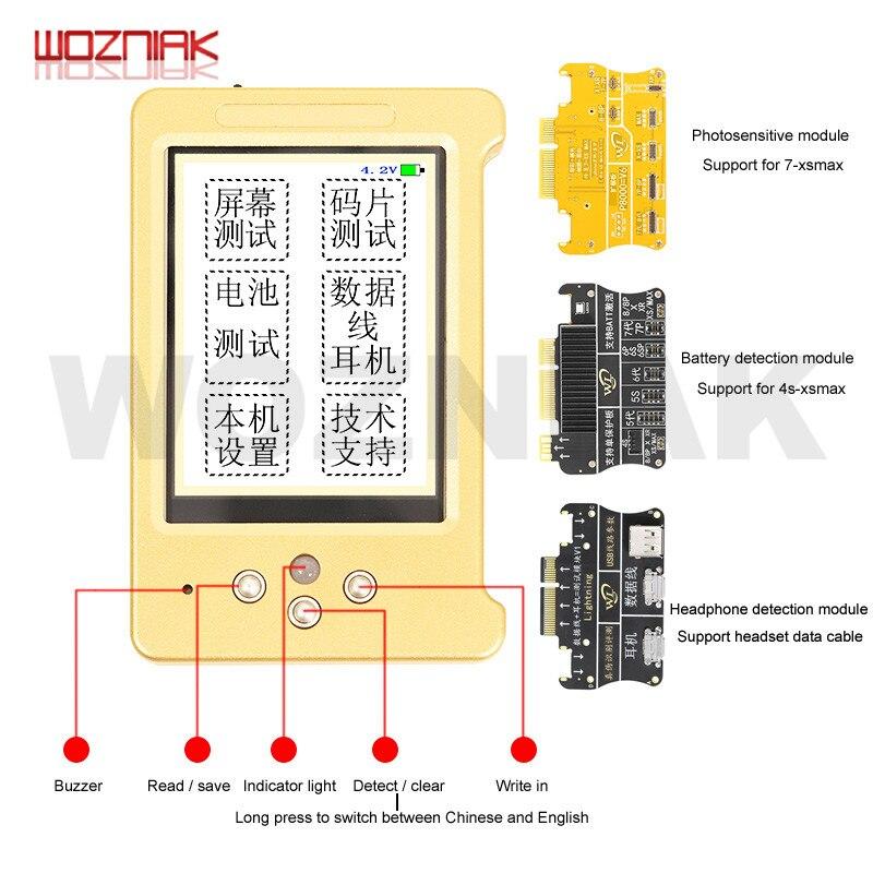 Wl v6 lcd 화면 아이폰 11 xr xsmax xs 8 p 8 7 p 이어폰/터치/배터리 수리를위한 원래 색상 프로그래머 qianli icopy