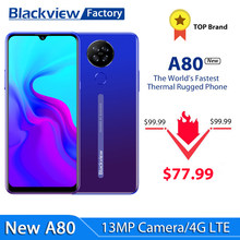 Blackview a80 android 10.0 ir celulares quad câmera traseira 6.21 waterwaterdrop tela hd 2gb + 16gb telefones celulares 4200mah 4g smartphone
