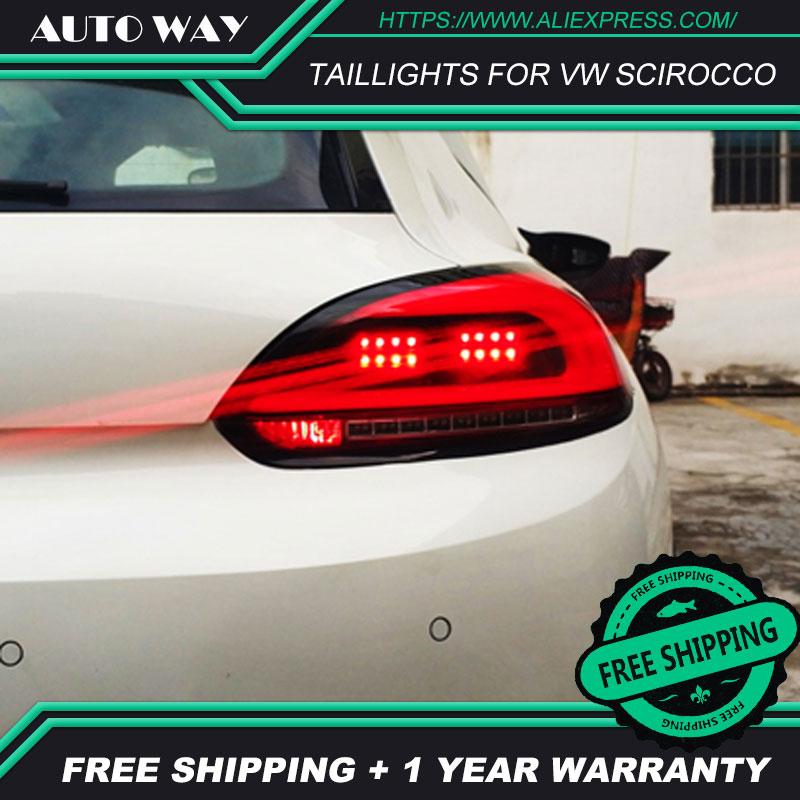 Auto Styling Achterlichten Case Voor Vw Scirocco Achterlichten Scirocco Achterlicht Led Achterlicht Drl Mistlampen Kofferbak Lamp cover - 4