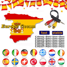 CCCAM Europe Cline 7 linessate llite receiver For 1 Year Europe Spain/Germany For V8 Super,V7 HD,V7S Receptor Satellite Receiver nieuwkoop europe кашпо raindrop 54х51 см 6rdpbe229 nieuwkoop europe