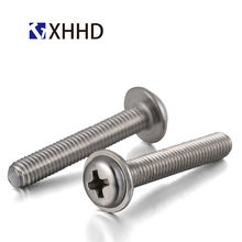M2 M2.5 M3 M4 Pan Washer Head Machine Screw Metric Thread Phillips Cross Recessed Wafe Bolt 304 Stainless Steel m2 m2 5 m3 m4 phillips cross recessed pan head machine screw iron metric thread round head bolt black steel