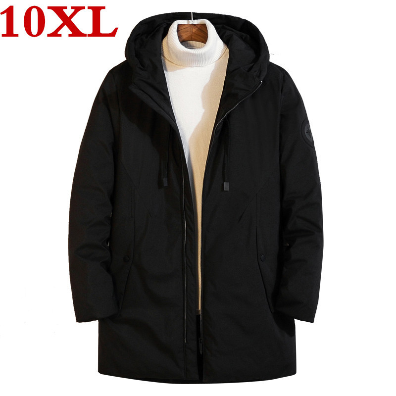 New Plus Size 10XL 9XL 8XL  Hooded White Duck Down Jacket For Men High Quality Warm Down Jacket Parka Winter Thick