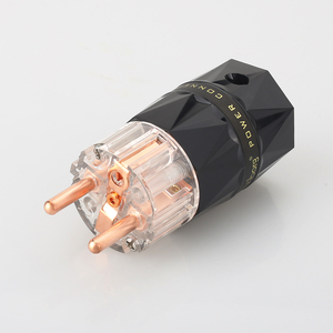 Image 2 - Viborg VE503 + VF503 Transparent 99.99% pur cuivre EUR Schuko Hifi audio cordon dalimentation câble fiche dalimentation IEC femelle connecteur